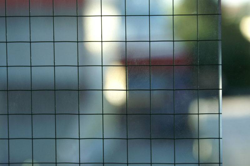 Muster Drahtspiegelglas